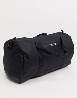 Nicce Andi barrel bag with small logo in black