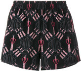 Valentino Love Blades shorts - women - Silk - XS