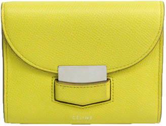 Celine Yellow Leather Trotter Wallet