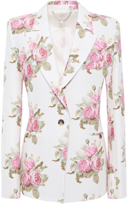 Paco Rabanne Floral-print Cotton-blend Cady Blazer