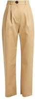 Awake High-rise cotton chino trousers