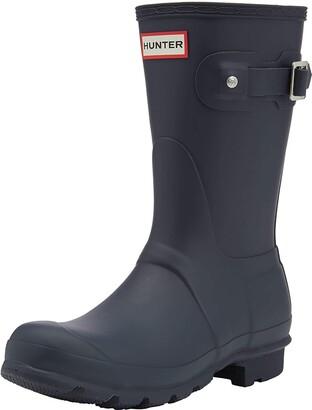 Hunter Women's original short wellington boots Blue (Navy) 3 UK (36 EU)