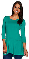 As Is LOGO by Lori Goldstein 3/4 Sleeve Knit Top with Seam Pockets