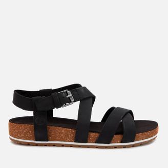 Timberland Women's Malibu Waves Ankle Nubuck Strappy Sandals