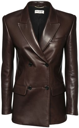 Saint Laurent Double Breast Leather Jacket
