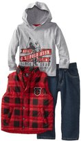 U.S. Polo Assn. Boys 2-7 Vest with Tee and Pant