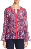 T Tahari Norma Bell-Sleeve Blouse