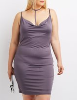 Charlotte Russe Plus Size Strappy Cowl Neck Dress