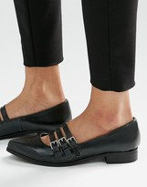London Rebel Multi Strap Flat Shoes
