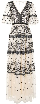 Needle & Thread Tiered Style Embroidered Dress