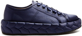 Marco De Vincenzo Quilted-satin low-top trainers