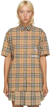 Burberry Beige Curlew Short Sleeve Shirt