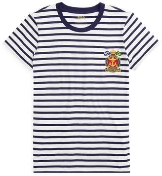 Ralph Lauren Crest Striped Cotton T-Shirt
