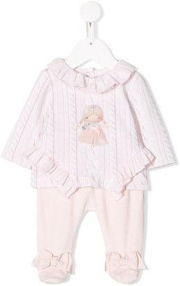 Lapin House Ruffled Two-Piece Set