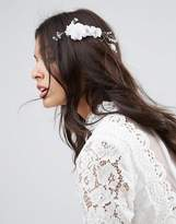 Asos Bridal Fine Wire Flower Back Crown