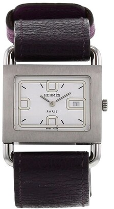 Hermes 1990 pre-owned Barenia wrist watch