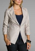 Windsor Taupe Shirred-Sleeve Blazer