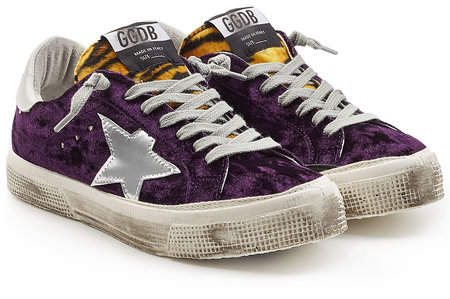 Golden Goose May Velvet Sneakers