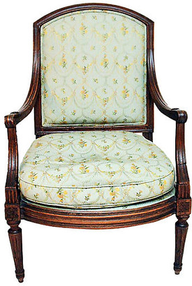 One Kings Lane Vintage 19th-C. French Fauteuil Armchair - House of Charm Antiques