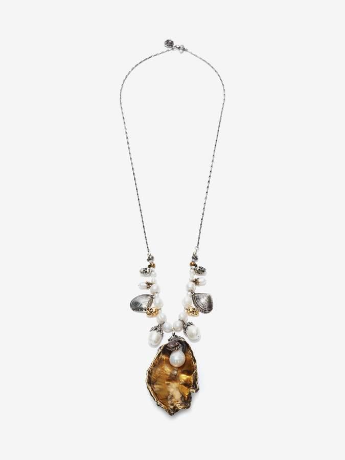Alexander McQueen Beaded Oyster Necklace