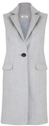 Allora Wool Cashmere Sleeveless Coat Light Charcoal