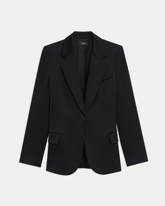 Theory Fitted Blazer in Gloss Sateen