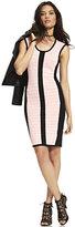 New York & Co. Textured Center Stripe Sweater Dress