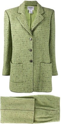 Chanel Pre Owned 1997 Single-Breasted Tweed Suit