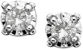 Diamond Stud Earrings in 14k White Gold (1/8 ct. t.w.)
