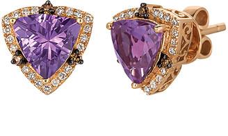 LeVian Le Vian 14K Rose Gold 2.61 Ct. Tw. Diamond & Amethyst Studs