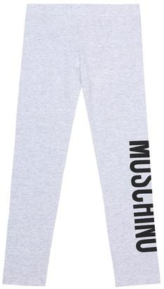 MOSCHINO BAMBINO Stretch-cotton leggings