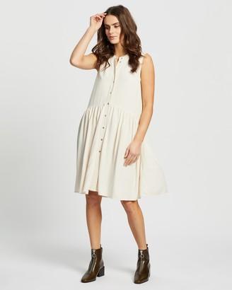Only Chicago Life Sleeveless Linen Dress