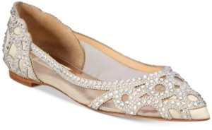 Badgley Mischka Gigi Pointed-Toe Evening Flats Women's Shoes