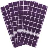 """DII 100% Cotton, Machine Washable, Ultra Absorbant, Basic Everyday 16 x 26"""" Terry Kitchen Dish towel, Set of 4- Check"""