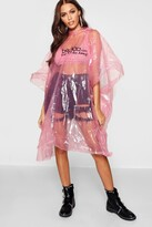 Boohoo Disposable Showerproof Festival Poncho Non Refundable