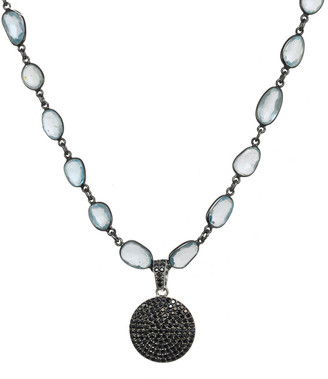 Rachel Reinhardt Plated Black Spinel Necklace