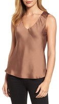 Halogen Women's V-Neck Satin Tank