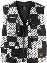 Levi's Checkered Print Zipped Gilet