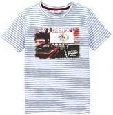 Original Penguin Drive-In Striped Short Sleeve Tee (Little Boys)