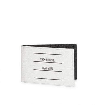 Thom Browne TBNY Label Bi-Fold Leather Wallet