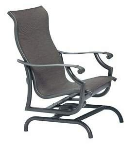 Tropitone Montreux Sling Action Patio Chair Tropitone Frame Color: Shell, Seat Color: Mia II