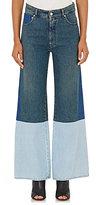 MM6 MAISON MARGIELA WOMEN'S COLORBLOCKED DENIM WIDE-LEG JEANS-BLUE SIZE 36 IT