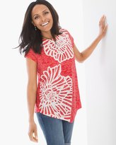 Chico's Flower-Printed Tunic
