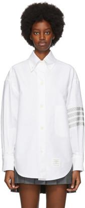Thom Browne White 4-Bar Oversized Shirt