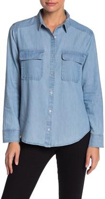 Caslon Two Pocket Chambray Shirt (Regular & Petite)