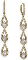 Danori Gold-Tone Pavé and Crystal Triple Drop Earrings