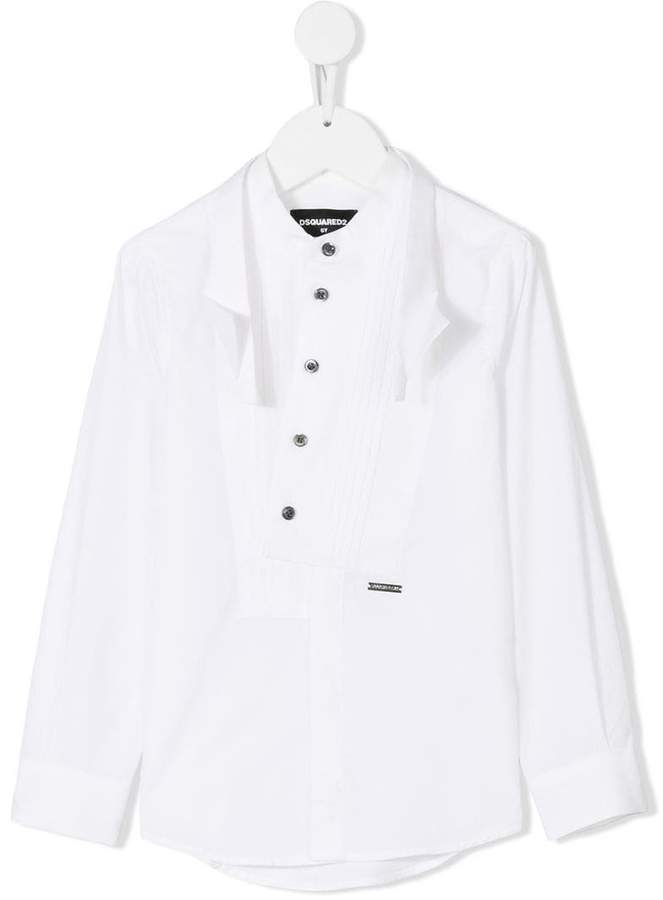 DSQUARED2 off-center buttoned shirt