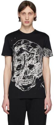Alexander McQueen Black Etched Skull T-Shirt