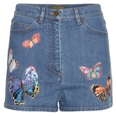 Valentino Denim shorts with appliqué
