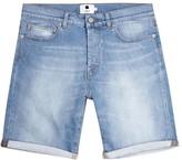 Nn.07 Light Blue Faded Denim Shorts